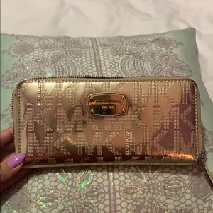 Beautiful and shiny MK wallet